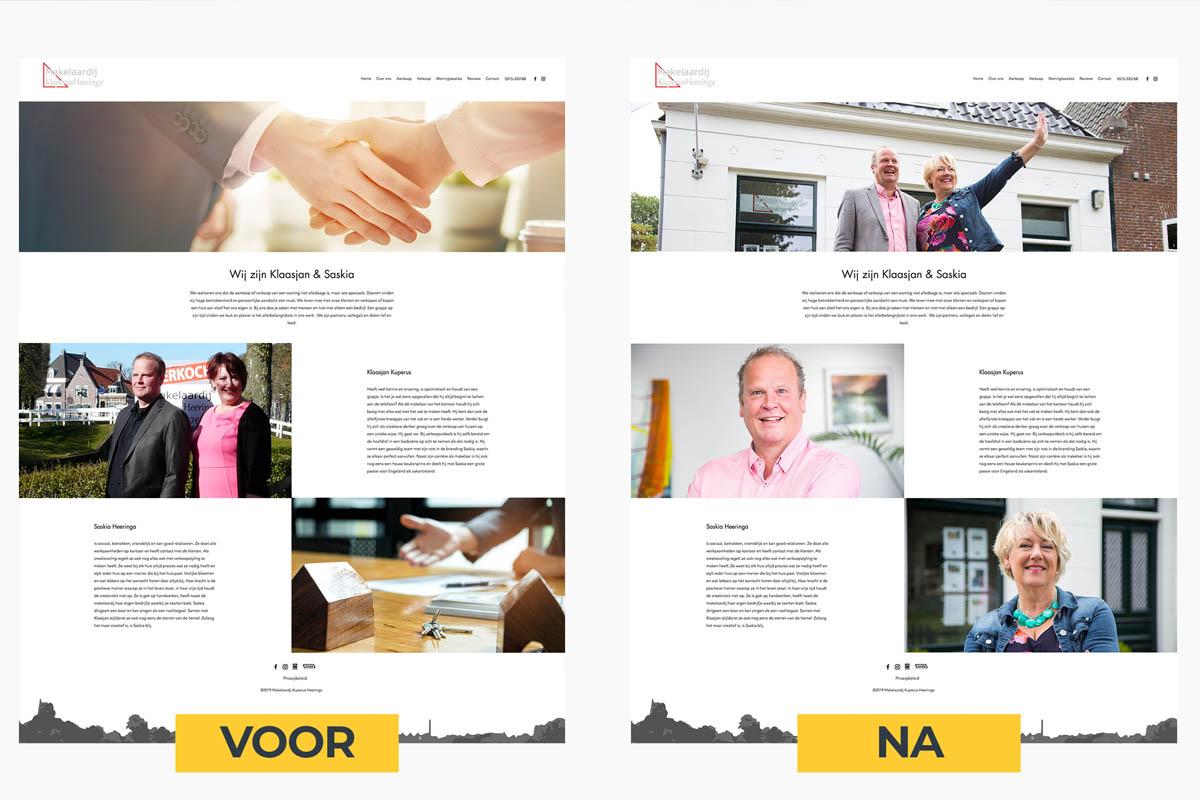 Verbetering van een website door professionele website fotografie