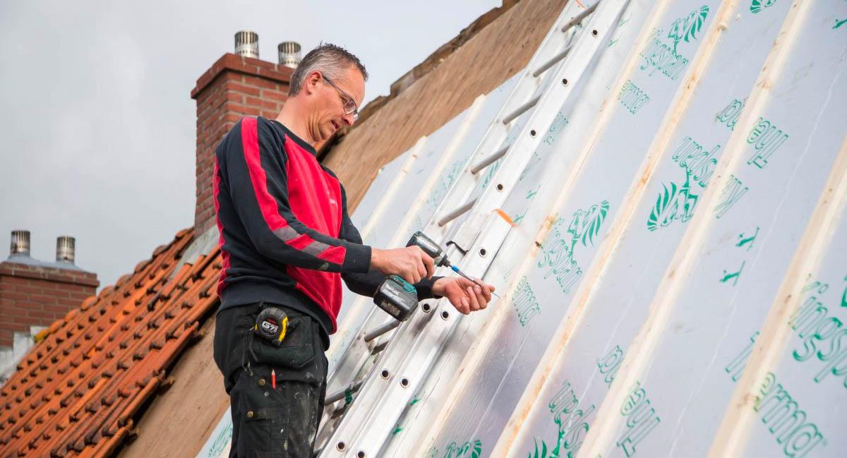Bedrijfsfotografie van de werkzaamheden van Meesterschilders Friesland voor Thus Wonen