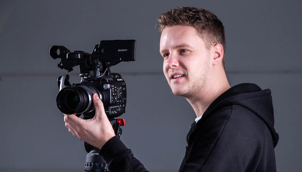 Cameraman neemt videopitch op