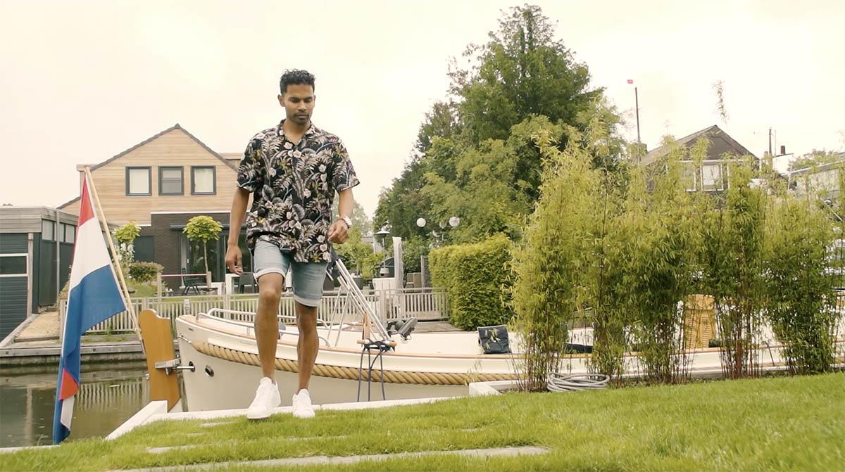 Screenshot van reclamevideo van Kammen tuinen