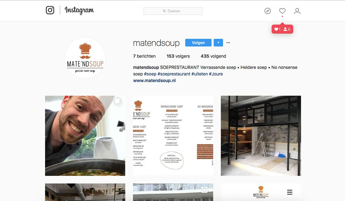 Instagrampagina 1 april grap 2018 van MediaSoep